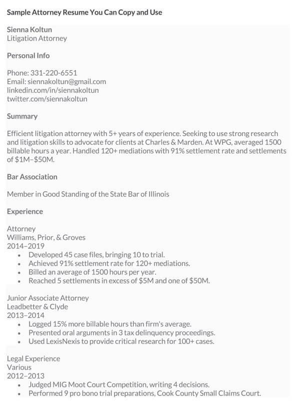 Attorney-Resume-Sample
