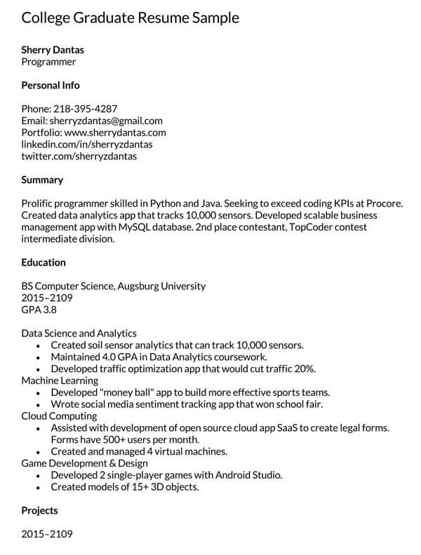 College-Graduate-Resume-Sample