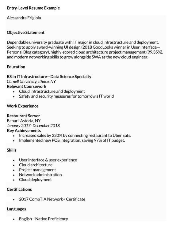 Entry-Level-Resume-Sample