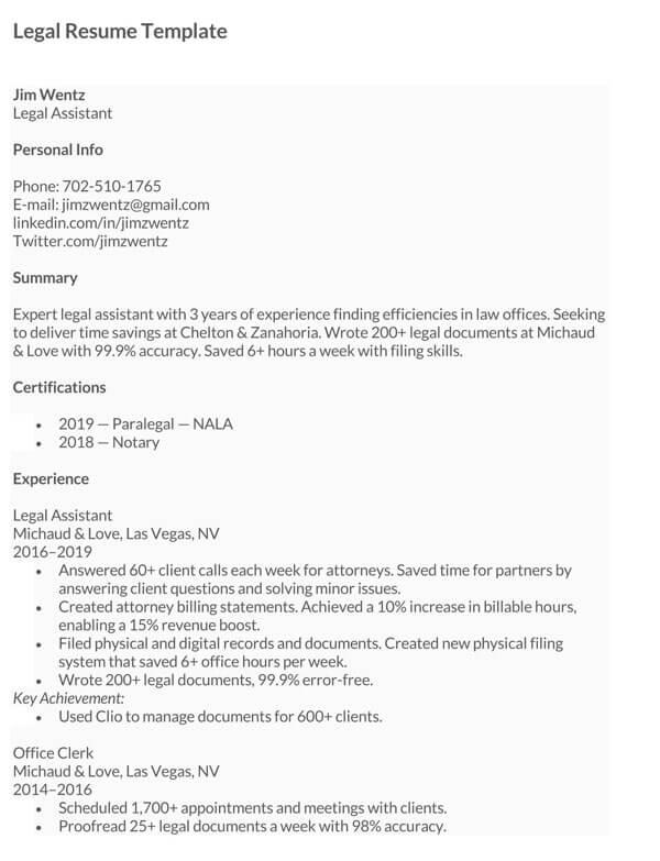 Legal-Resume-Sample