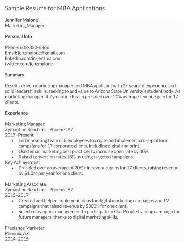 MBA-Applications-Resume-Sample