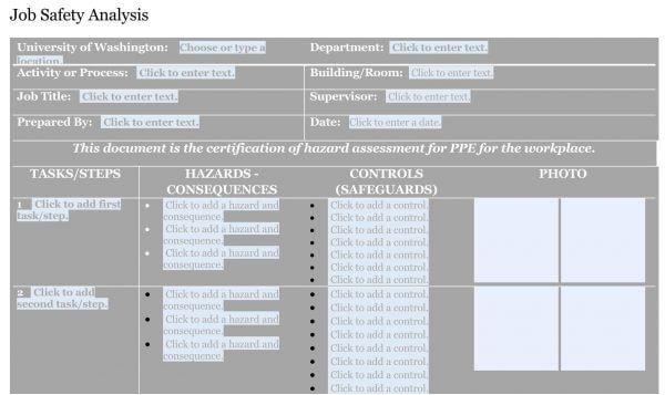 Job Safety Analysis Template 01