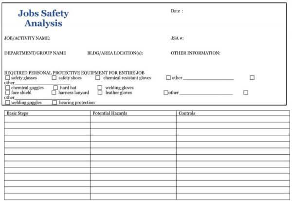Job Safety Analysis Template 03