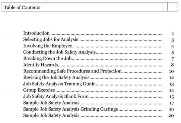 Job Safety Analysis Template 06