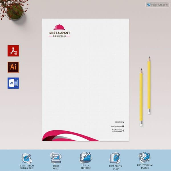 Catering Services Letterhead Sample