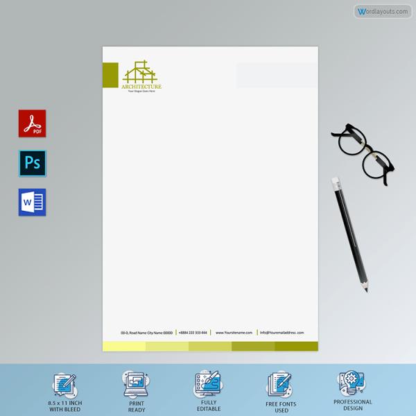 Editable Architect Letterhead Sample