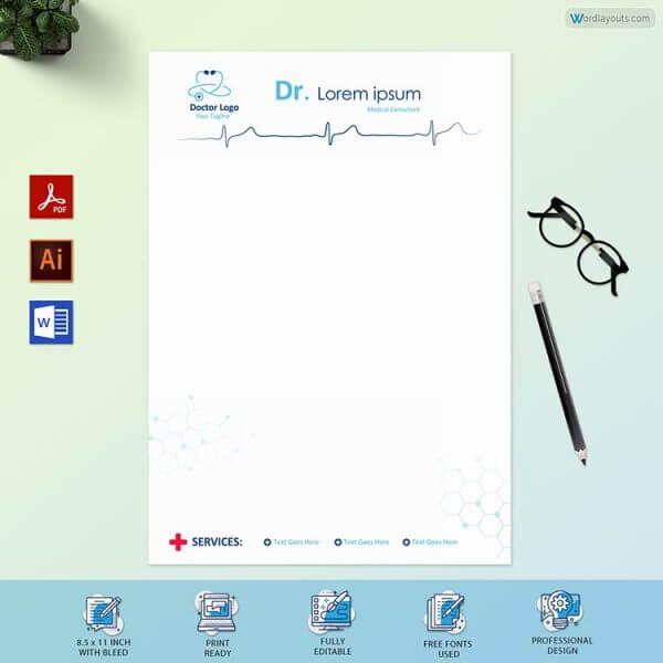 Medical Store Letterhead Sample