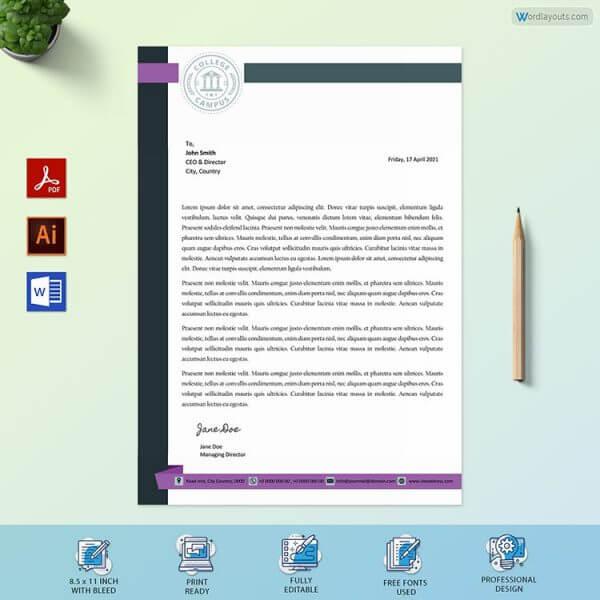 School Letterhead Sample