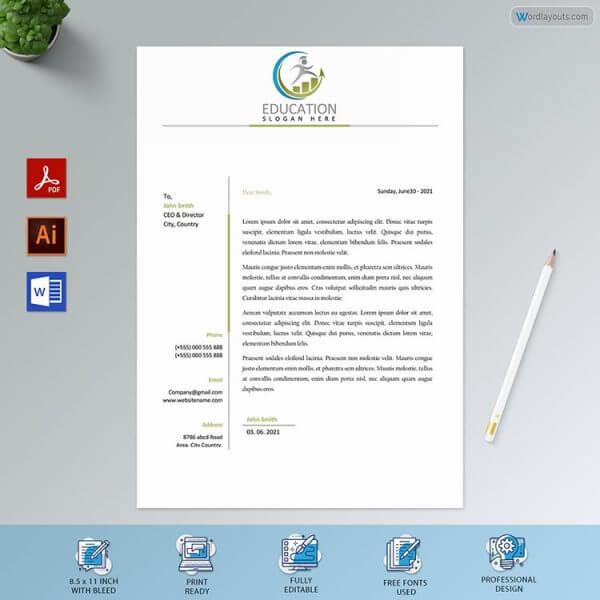 University Letterhead Sample