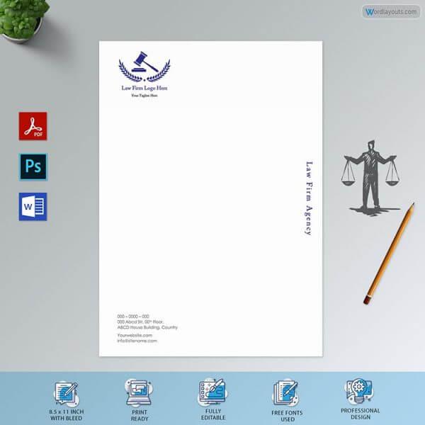 Professional Law firm Letterhead