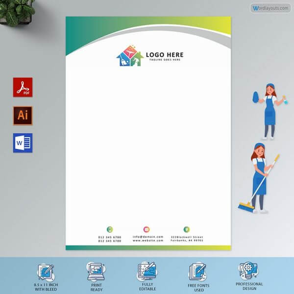 Free Letterhead For Cleaning Company