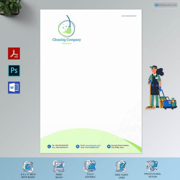 House Cleaning Service Letterhead Free