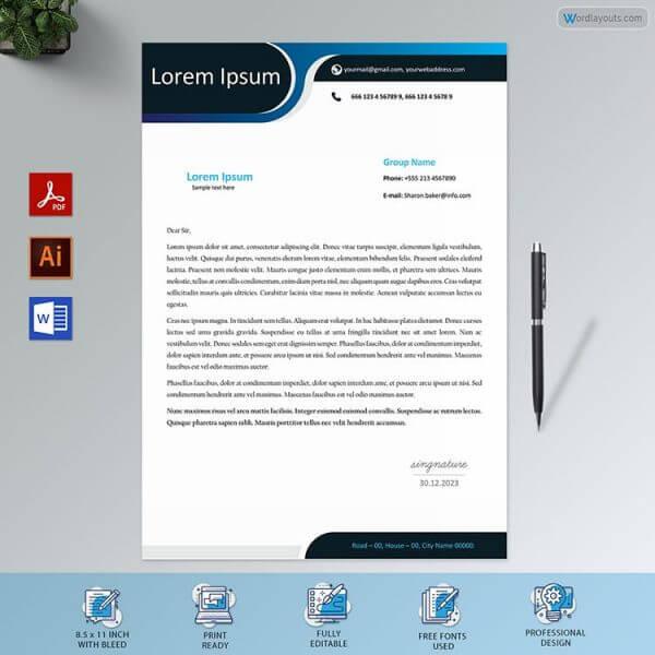 Editable Personal Letterhead Sample