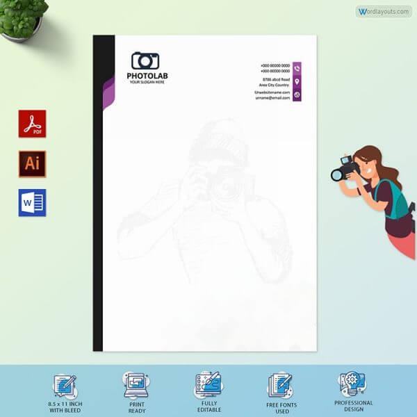 Photography Letterhead Sample