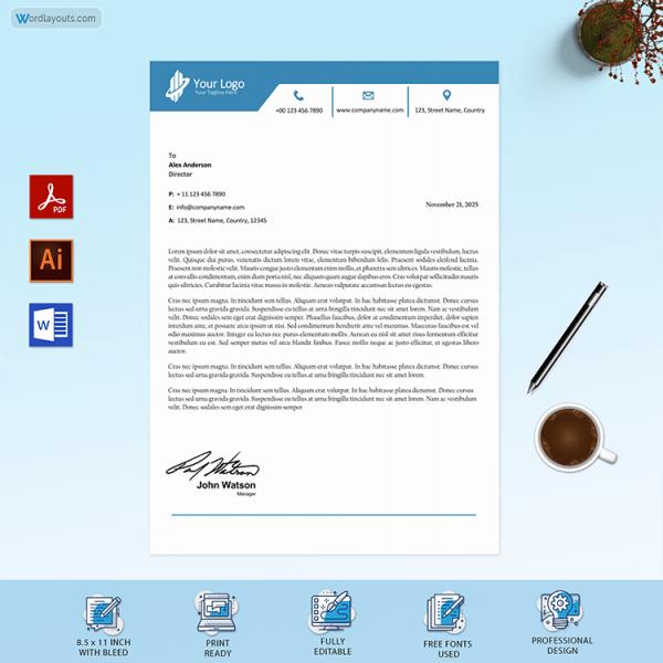 Printable Business Letterhead