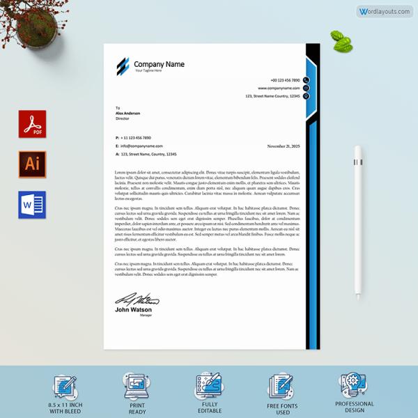 Free Printable Business Letterhead