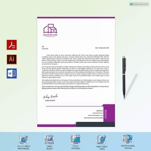 Architecture Company Letterhead