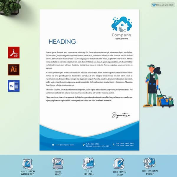 Cleaning Business Letterhead