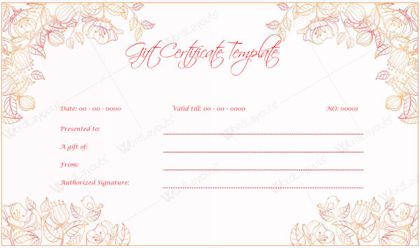 2nd Gift Certificate Template