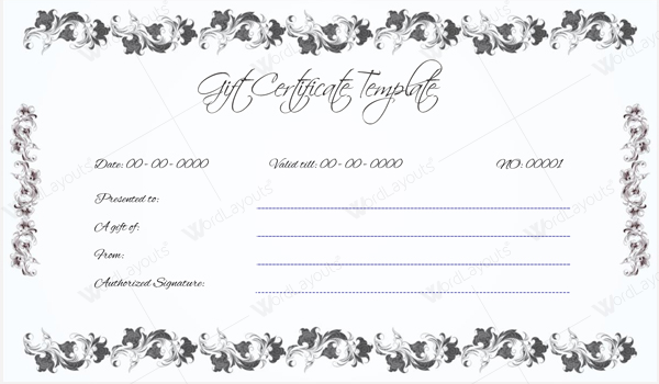 4th Gift Certificate Template  Gift Certificate Template In Word