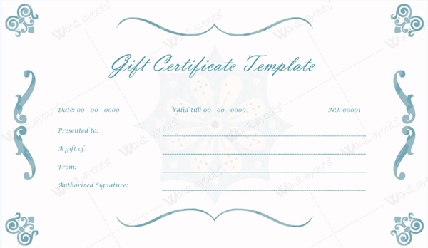 10 Gift Certificate Templates to Appear Professional – Wedding Gift Certificate Template