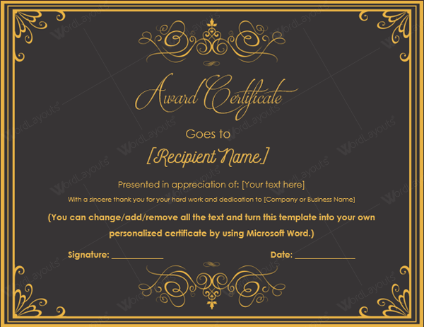 10 best award certificate templates for 2016 8th award certificate template yelopaper Image collections
