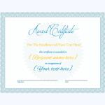 Award Certificate 01 BLU