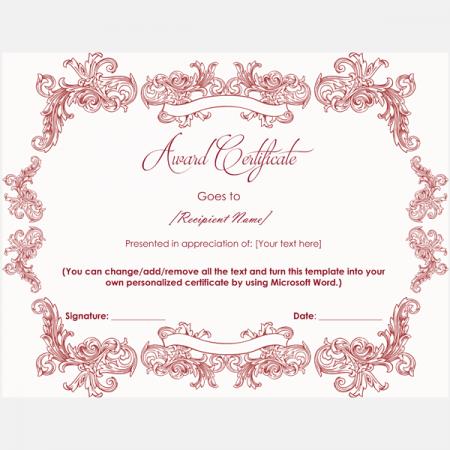 Appreciation certificate template printable