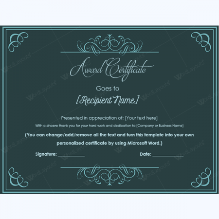 printable certificates