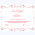 honor certificate template