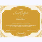 honor appreciation certificate template
