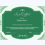 certificate of honor template