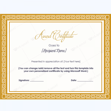 student council certificates template