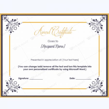 printable appreciation certificates