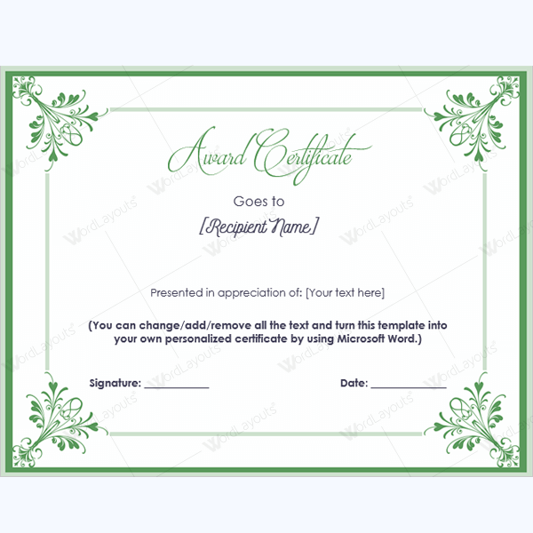 blank certificate of recognition