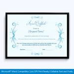 Award Certificate for employee