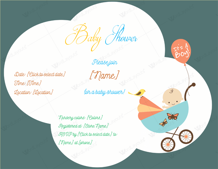 Use a baby shower invitation template 5 printable designs free baby shower invitation template yelopaper Choice Image