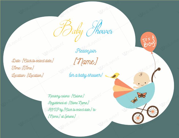 blank baby shower invitation templates