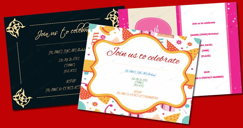 5 Birthday Invitation Templates To Create Invitations