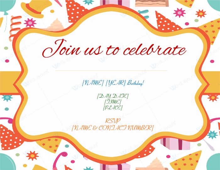 Free Printable Birthday Invitation Template  Birthday Invitation Design Templates