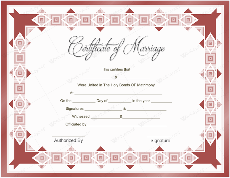 Beautiful marriage certificate templates to try this season blank marriage certificates printable yadclub Choice Image
