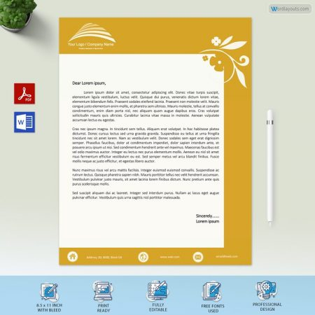 Business Letterhead Example Free