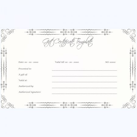 Gift Certificate Template 01