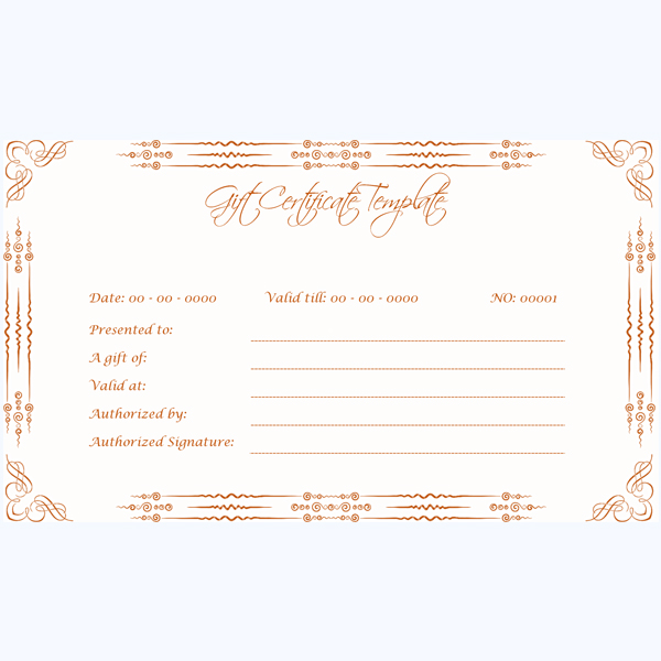Gift Certificate 01 RED