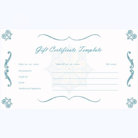 Gift certificate templates free
