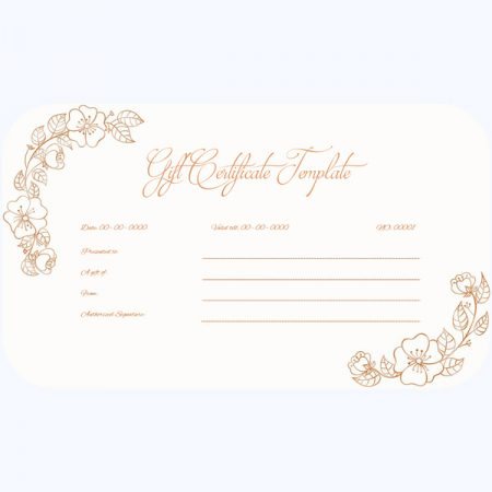Printable Gift Certificate 03