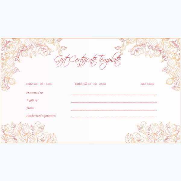 Gift Certificate Word