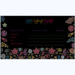 Black Gift Certificate Template
