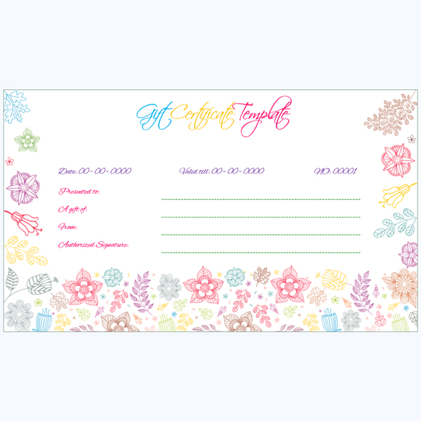 Gift Certificate Format