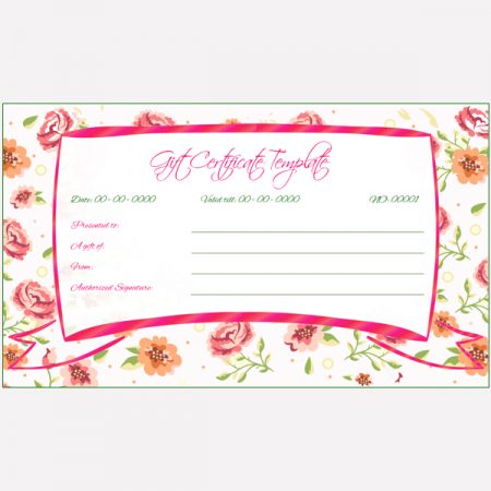 Wedding Gift Certificate Word